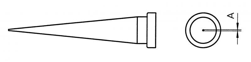 ראש מלחם LT  עגול 0.8 ממ