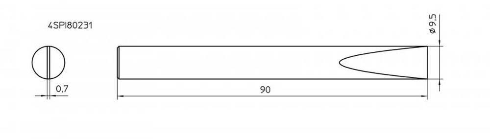 ראש למלחם SPI81 מברג 9.5 מ