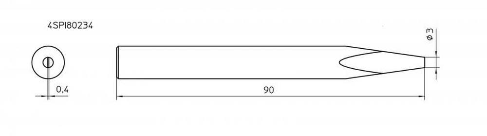 ראש למלחם SPI81 מברג 3.0 מ
