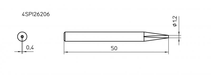 ראש למלחם SPI27 מברג 1.2 מ