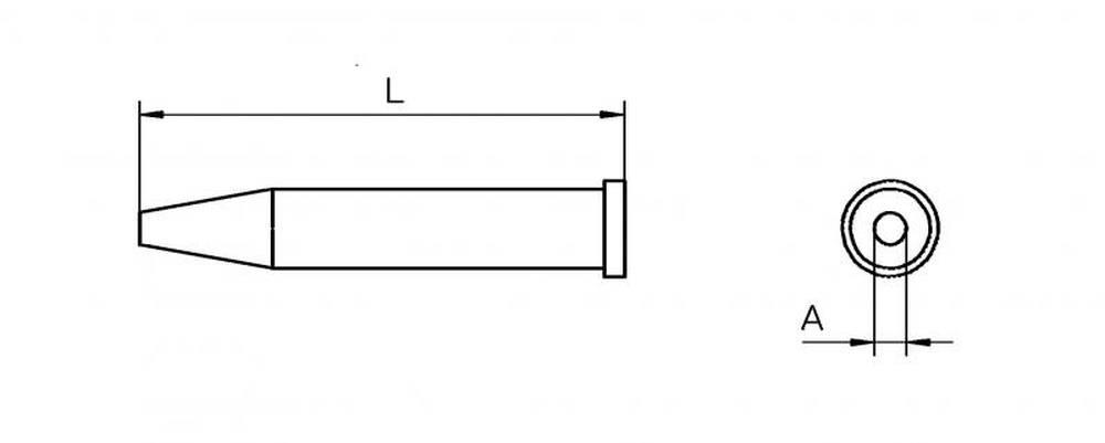ראש מלחם XT עגול 2.4 מ